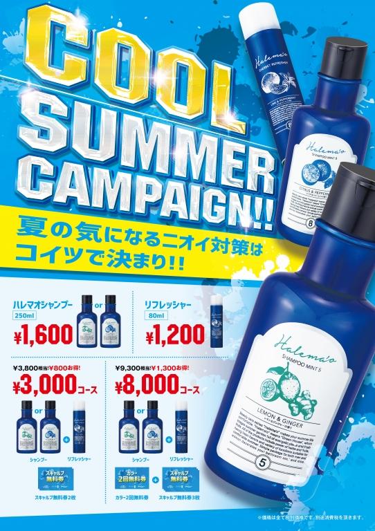 cool summer campaign 全国展開の美容室 アポログループ
